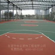 深圳户外蓝羽球场油漆施工图片