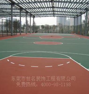 广州室外蓝羽球场油漆施工图片/广州室外蓝羽球场油漆施工样板图 (3)
