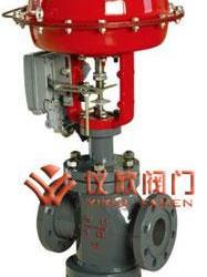 气动薄膜双座调节阀供应商 气动调节阀