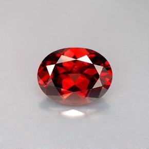 供应天然石榴石刻面 莫桑红石榴石刻面 进口红色石榴石戒面