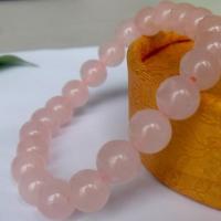 供应天然粉水晶手链 天然彩宝首饰批发 天然彩宝镶嵌 首饰一件定制