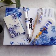 西安青花瓷笔优盘图片