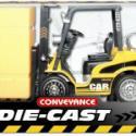 高仿费舒合金模型装卸堆高工程车图片