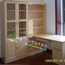 供应广州电脑桌/实木电脑台/组合书柜/实木书房家具/订做书柜