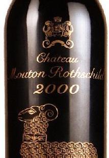 法国2000年金羊木桐干红葡萄酒图片