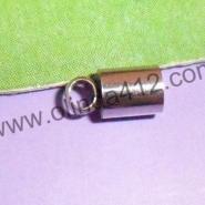 不锈钢蛇头皮绳扣首饰扣图片
