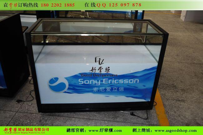 供应广州索爱手机柜台定做厂家图片带灯