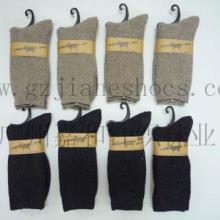 供应超值 羊毛袜 男士羊毛袜子 秋冬保暖 时尚条子款图片