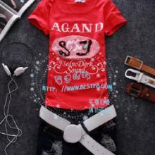 供应2011T恤批发2011年夏季流行女装批发韩版绣绒女T便宜T图片