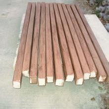上海水泥仿木纹板加工图片