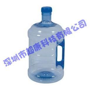 供应带把手柄PET5升水桶矿泉水桶,家用食品级手提式纯净水桶,储水饮水桶小5升,塑料纯净水桶5L
