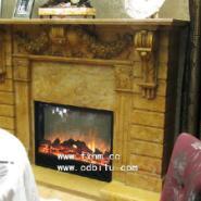 御封会餐厅清朝石材壁炉配饰电壁炉图片