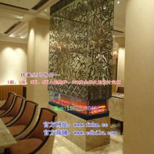 欧壁火伏羲品牌4面火焰电壁炉图片