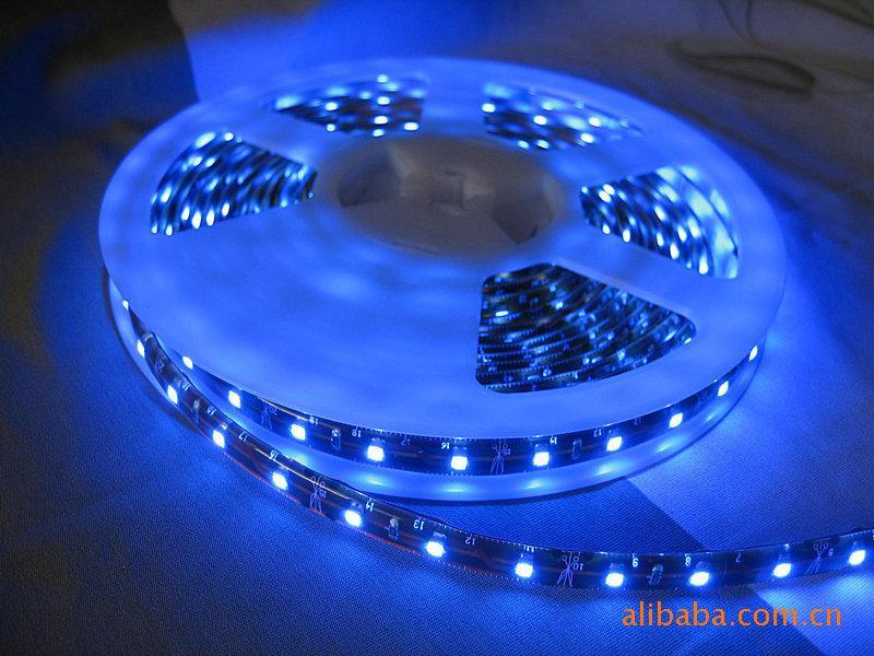 供应5050软灯条蓝光一米60灯图片