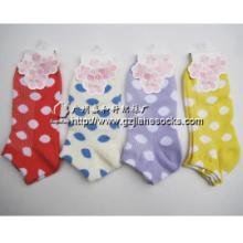 供应纯棉女袜休闲袜 圆点提花短筒-袜子加工定做图片