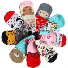 广州袜厂全棉卡通袜儿童直板袜可爱童袜图片