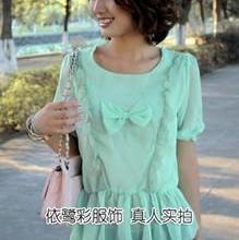 女装韩版花纹蕾丝裙批发蕾丝小西装时尚蕾丝边蝴蝶结雪纺上衣批发批发