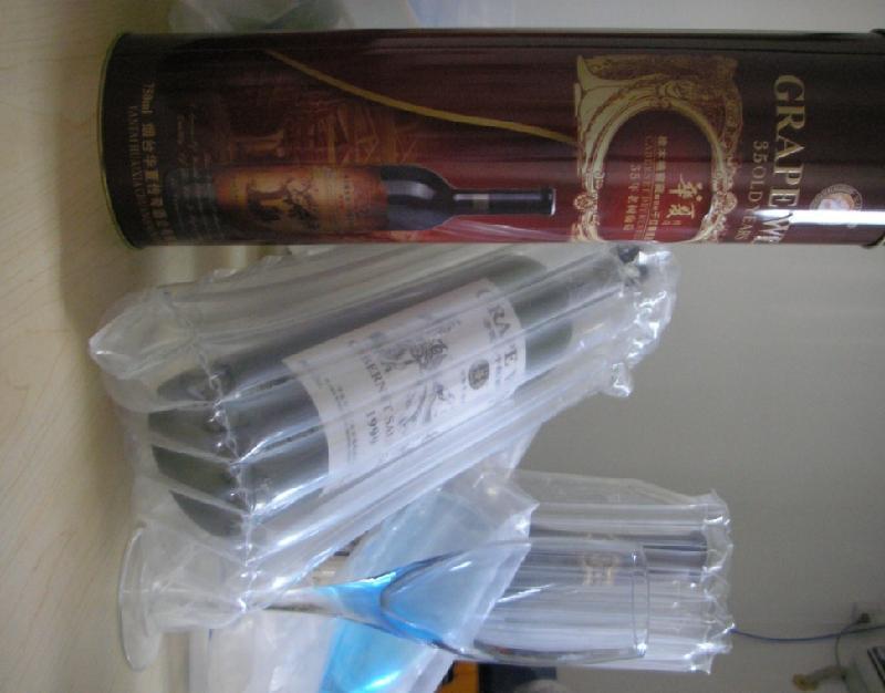 供应白酒瓶防震气柱袋/气泡袋