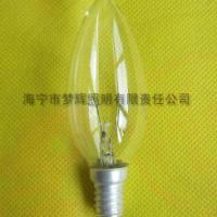 供应C35烛型灯泡透明E14白炽灯泡白炽灯
