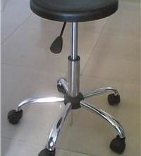 供应碳钢镀铬五星脚防静电气动升降圆凳图片