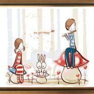 尚典蒙娜数字油画聆听图片