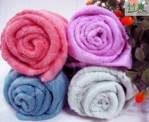 100纯天然竹纤维毛巾美容面巾图片