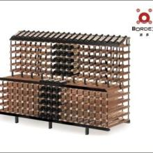 供应波多2米单面叠层商用展示架,实木柜式红酒架批发