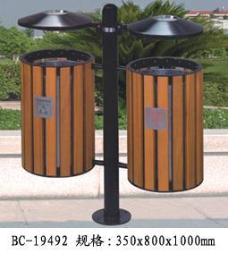 供应昆明环保钢木垃圾桶