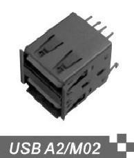 供应USB连接器双层USB连接器UAB AF连接器