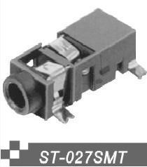 供应音频插座3.5MM耳机插座,贴片/插脚耳机插座ST-027.