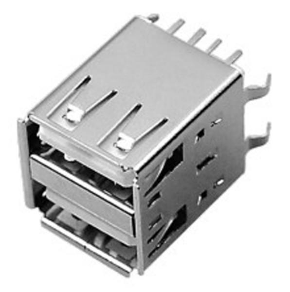 供应双层180度DIP插件USBAF2-002厂家
