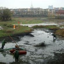 供应抚州企业矿渣沉淀池清淤公司图片