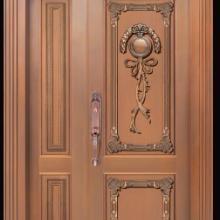 河南郑州哪里有定做铜门?紫铜大门 工艺玻璃铜门 地弹簧铜门图片