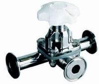 供应不锈钢卫生级三通隔膜閥