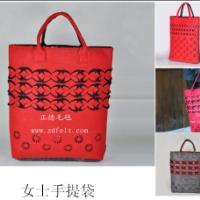 供应精美时尚彩色毛毡礼品(赠品)包包全新上市,毛毡包、女式购物包厂家