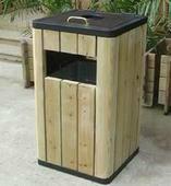 供应益阳最便宜的防腐木垃圾桶哪里有卖