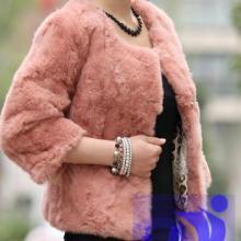 低价供应兔毛女装外套皮草春装短款圆领定做 各种颜色 款式