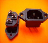 深圳供应环保安规的品字尾座  品字尾AC插座 品字尾AC电源插座 品字形AC电源插座