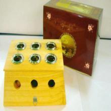 艾灸盒公司直供 艾灸盒直供 六孔竹制艾灸盒 温灸盒 灸具 六孔温灸器