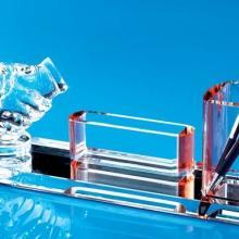 供应大量制作水晶笔筒办公摆件水晶模型水晶船水晶马赛克
