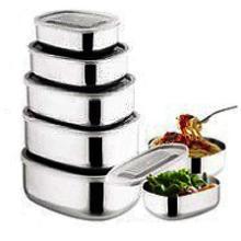 供应不锈钢方型保鲜盒 价格实惠欢迎抢购