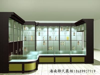 供应海南水晶展示柜制作海南珠宝柜台化妆品柜专柜定做
