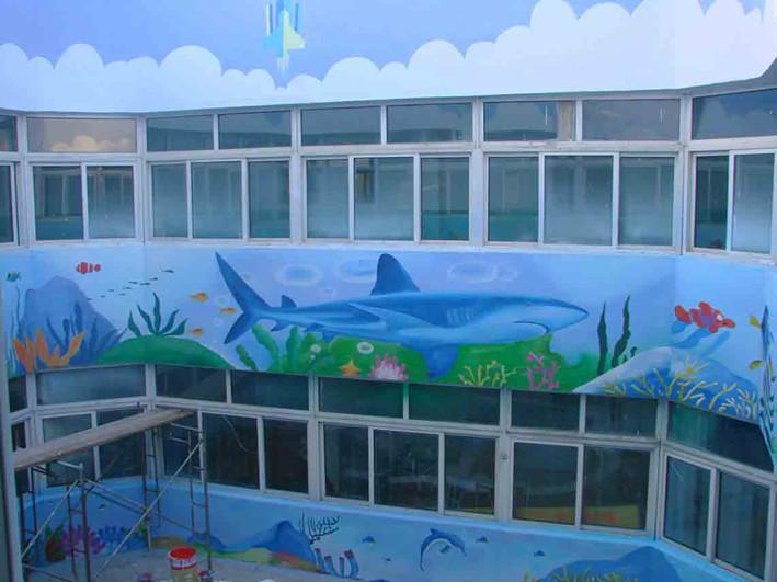 咸阳幼儿园装饰绘画 咸阳幼儿园彩绘 咸阳幼儿园墙面涂 咸阳幼儿园图片