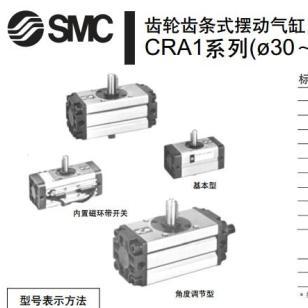 SMC齿轮齿条式摆动气缸CDRA1B50-90图片