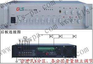 广播级分区音量可调定压功放,广播级分区音量可调功放, 分区音量可调