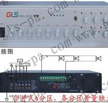 校园广播分区音量可调功放,前后级分区音量可调功放, 分区音量可调功放