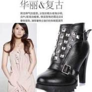 铆钉靴秋冬新款韩版欧美女靴子高跟图片