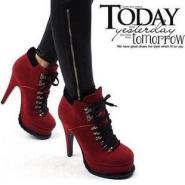 新款韩版时尚女靴子春秋女鞋图片