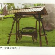 制做长沙防腐木秋千摇椅图片