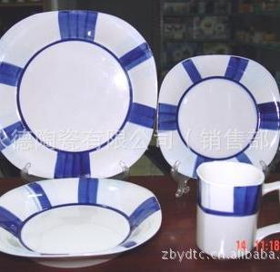 16头色釉餐具套装图片